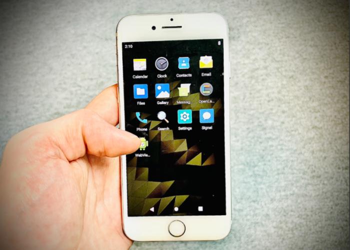 điện thoại iPhone chạy hệ điều hành Android