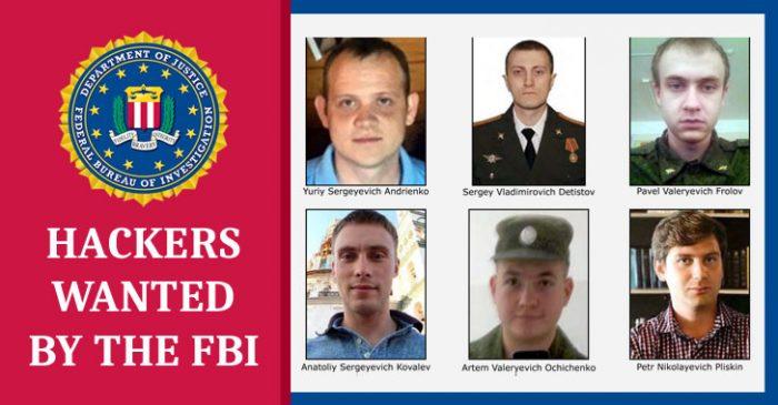 Mỹ buộc tội 6 sĩ quan tình báo Nga