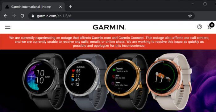 Garmin bị tấn công ransomware