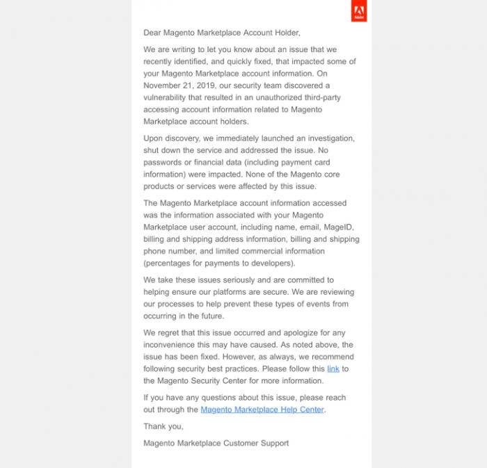 email thông báo sự cố